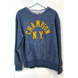 Vintage Oversized Heathered Champion NY Sweatshirt